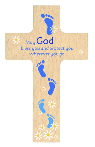 God Bless You - Wood Cross