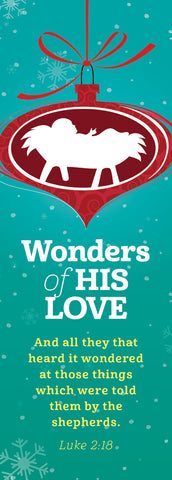Wonders of His Love: Bookmark (sold in multiples of 25) (Advent 2019)