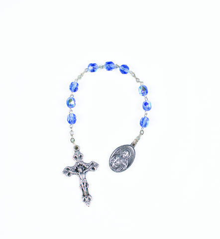 Blue Beaded Chapelet for Our Lady Fatima