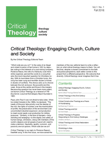 Critical Theology