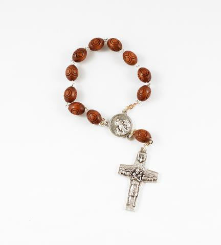 Pope Francis' rosary with prayer image // Bargains