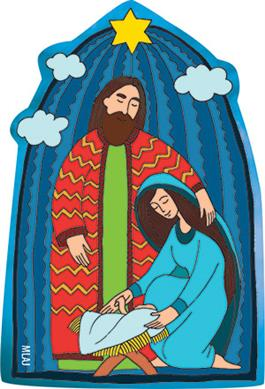 Holy Family Magnet (Sold in multiples of 25)