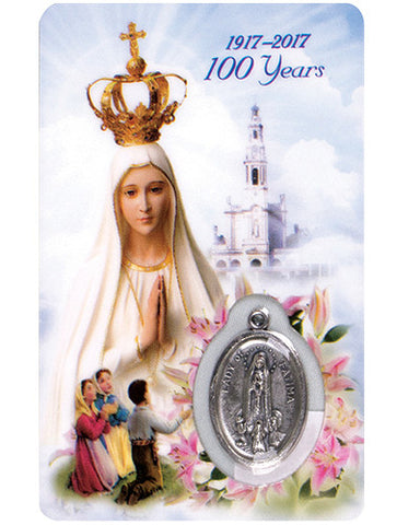 100th Anniversary Our Lady of Fatima Prayer Card