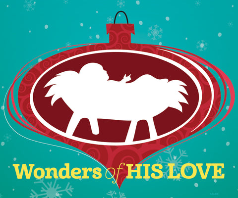Wonders of His Love: Christmas Magnet (sold in multiples of 25) (Advent 2019)