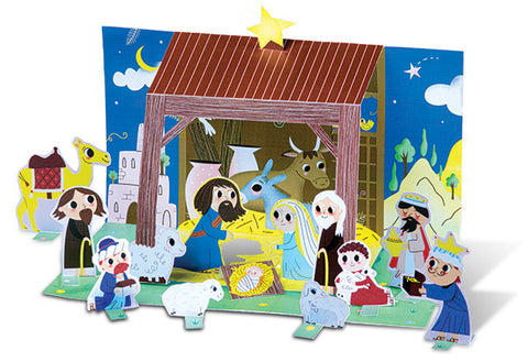Manger Scene Storybook Activity Sheet