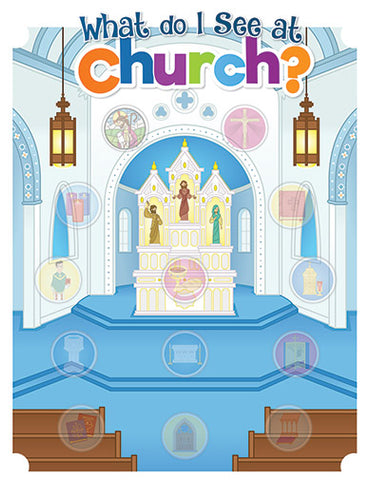 Sticker Activity Sheet | What Do I See At Church?