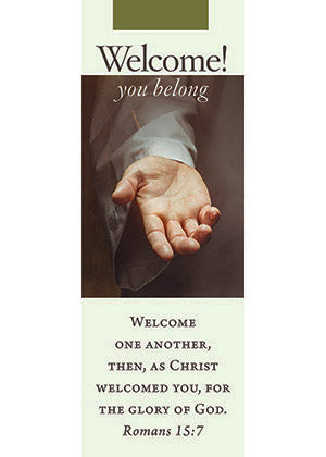 Welcome You Belong Bookmark (sold in multiples of 25)