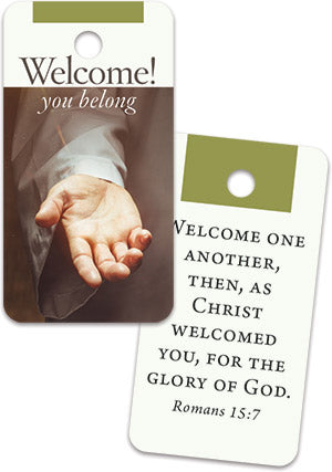 Welcome You Belong Key Tag (sold in multiples of 50)