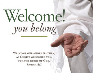 Welcome You Belong Parish Occasion Card