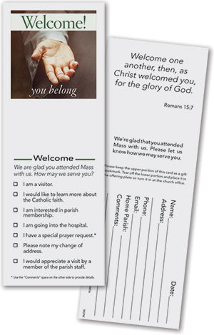 Welcome You Belong Pew Card (minimum order 200)