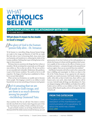 What Catholics Believe Leaflet 12 - Christian Life: Living Faith