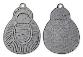 Away in a Manger - The Baby Jesus pewter ornament