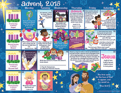 2018 Children S Advent Calendar En Novalis