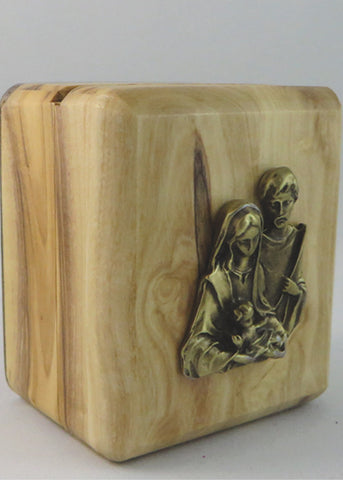 Olive Wood Rosay Rosary Box