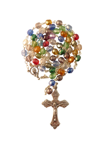 Crystal Rosary Multi-Coloured