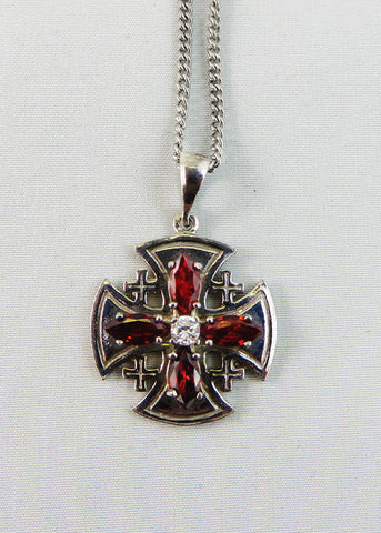 Silver Jerusalem Cross