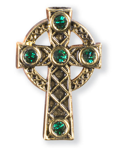 Antique Bronze Celtic Cross Pin