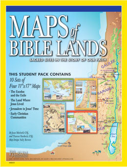 Maps of Bible Lands (4 plus guide)