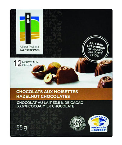 Box of 12 Hazelnut Chocolates