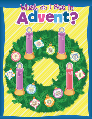 What Do I See In Advent? A Sticker Sheet Treasure Map of Advent Images (Advent 2019)