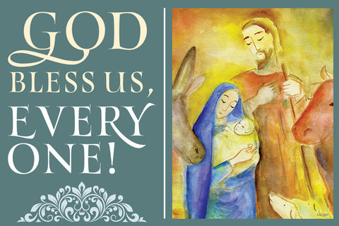 God Bless Us, Every One : Christmas Magnet (sold in multiples of 25) (Advent 2019)