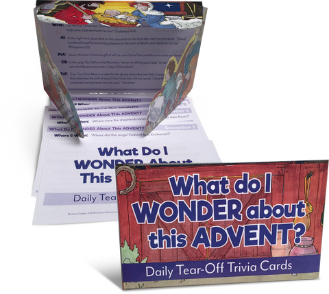 What Do I Wonder About This Advent? Tear-Off Trivia Cards (Advent 2019)