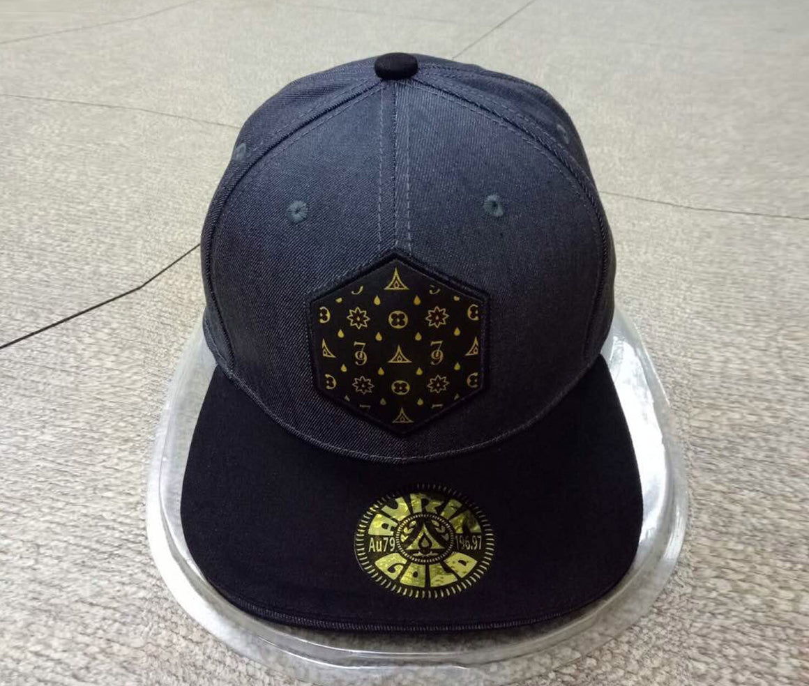 "Auric Gold ""The Don Print"" Logo Premium Denim Adjustable Cap-Auric Gold"