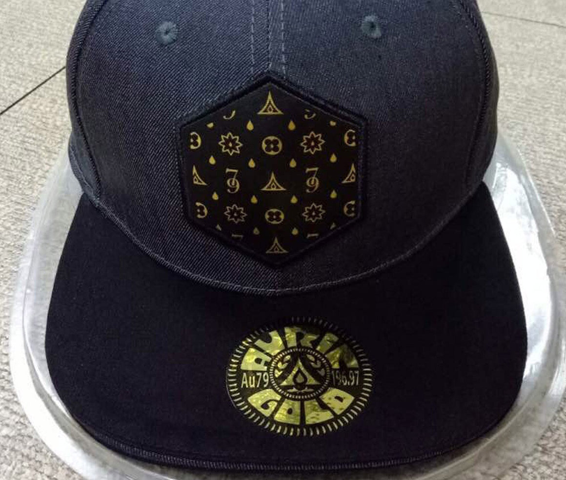 "Auric Gold ""The Don Print"" Logo Premium Denim Adjustable Cap Limited Release 79-0012"