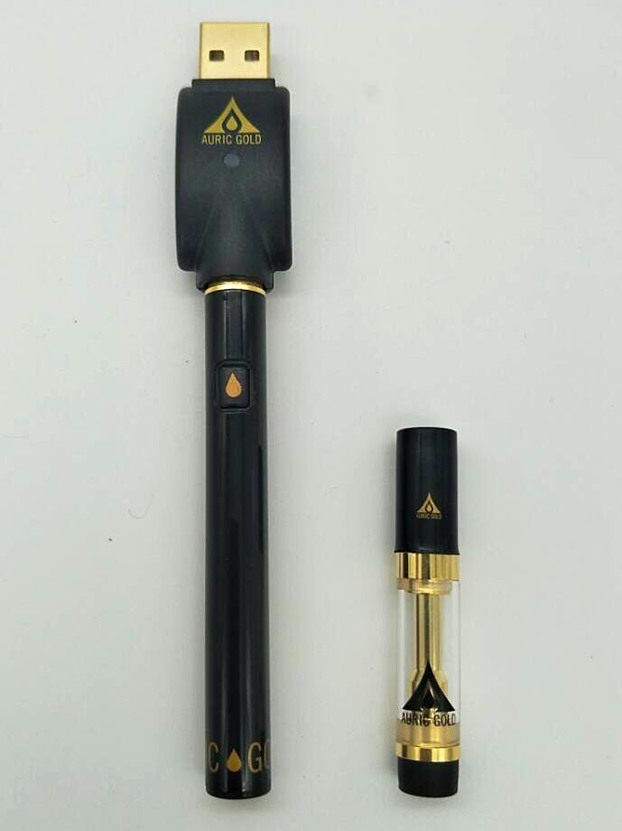 *New Improved* - Essential Oil/Concentrate Vape Pack - Wickless No Coil Design - Matte Gold Finish Limited Release 79-0016
