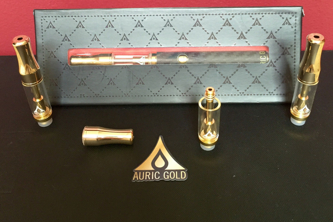 Crucible Kit And 3 Pack (Gold Plated) Refillable Atomizers - Auric Gold - 2