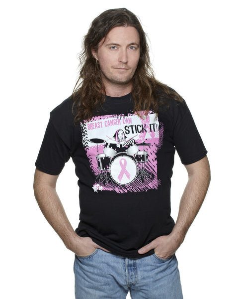 Breast Cancer Can Stick It! Black Classic T-shirt