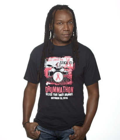 Breast Cancer Can Stick It! Drummathon 2015 T-shirt