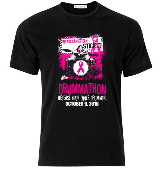 Breast Cancer Can Stick It! Drummathon 2016 T-shirt