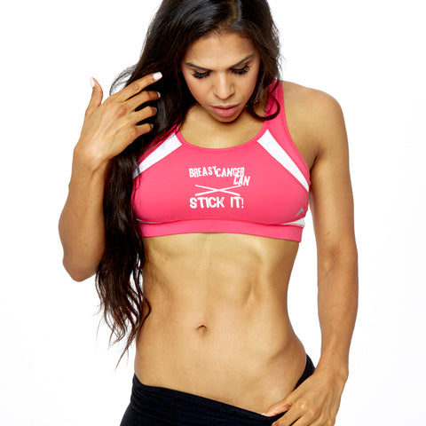 Limited Edition Breast Cancer Can Stick It! Sports Bra