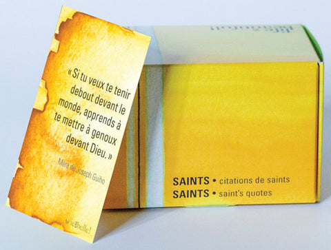 Boîte de cartes La vie est belle - Citations de saints (bilingue)