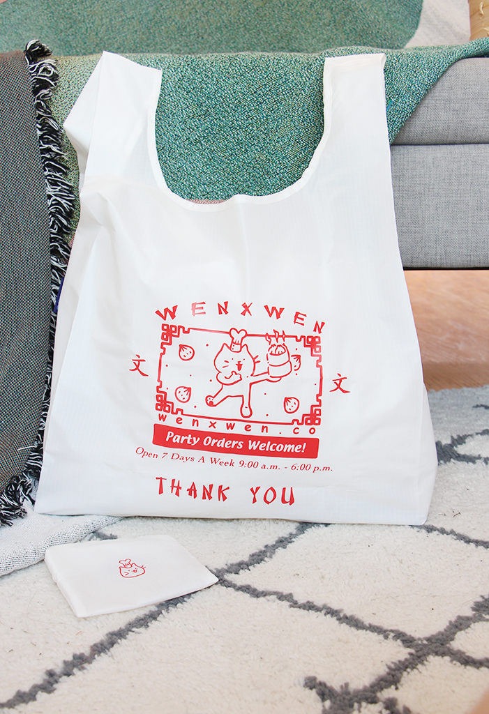 dimsum takeout reusable tote bag