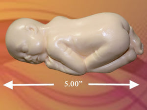 "5"" SLEEPING BABY SILICONE MOLD"
