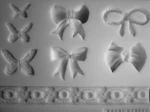 BOWS AND BUTTERFLY COLLECTION SILICONE MOLD