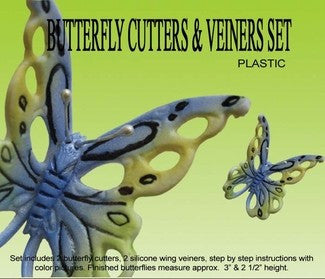 BUTTERFLY GUMPASTE CUTTER SET