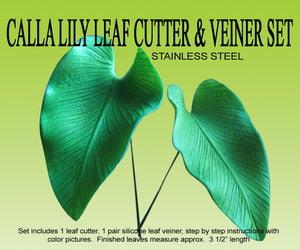 CALLA LILY LEAF CUTTER & VEINER SET