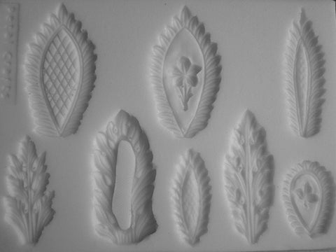 FANCY LEAF APPLIQUE SILICONE MOLD