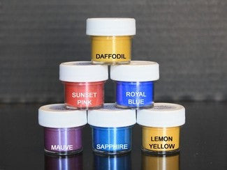 LUSTER DUST (SET OF 6) - Daffodil / Sunset / Royal / Mauve / Sapphire / Lemon