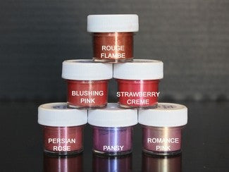 LUSTER DUST (SET OF 6) - Rouge / Blushing / Strawberry / Perisan / Pansy / Romance