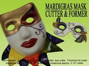 MARDI GRAS MASK CUTTER & FORMER SET