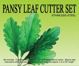 PANSY LEAF CUTTER SET