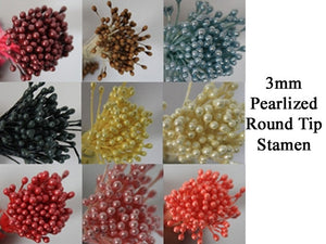3mm PEARLIZED ROUND TIP STAMEN