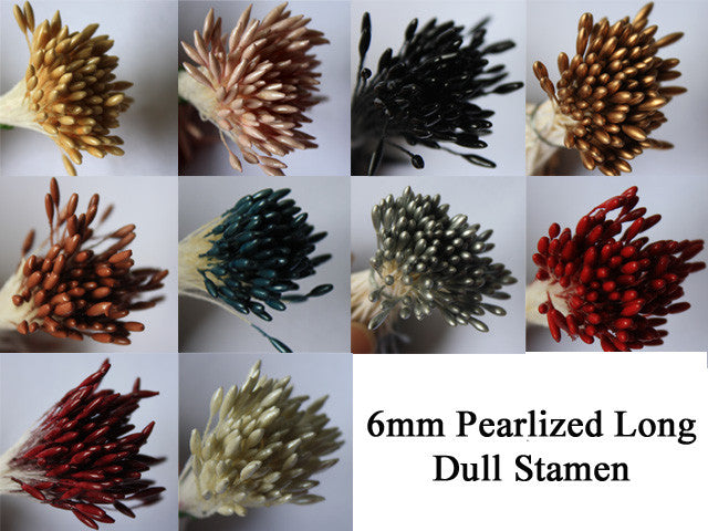 6mm PEARLIZED LONG DULL STAMEN