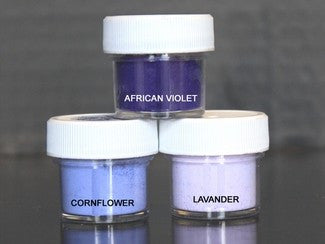 PETAL DUST (SET OF 3) - African Violet / Cornflower / Lavander