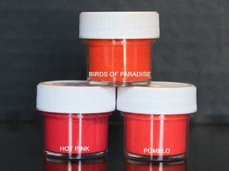 PETAL DUST (SET OF 3) - Birds of Paradise / Hot Pink / Pomelo