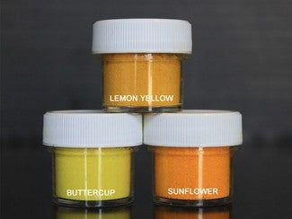 PETAL DUST (SET OF 3) - Lemon Yellow / Buttercup / Sunflower